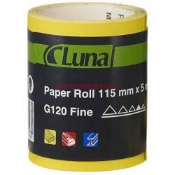 Papier ścierny w rolce 115x5 m K120 - Luna