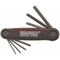 Klucze trzpieniowe sześciokątne calowe w zestawie 1476NAF - Teng Tools