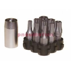 """Zestaw grotów TPXP z chwytem kwadratowym 1/4"""" M1410T5 - Teng Tools"""