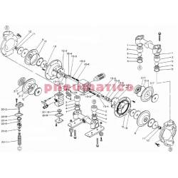Zestaw naprawczy pompy YAMADA NDP-20BATU/BSTU (K20D-MTU) K20D-MU