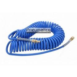 Wąż spiralny Rectus PU 8x12mm 15m prosta końcówka i szybkozłącza