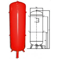 Zbiornik ciśnieniowy pionowy K1000 L