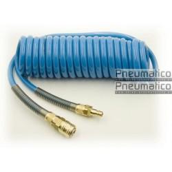Wąż spiralny Rectus PU 5x8mm 5m prosta końcówka i szybkozłącza