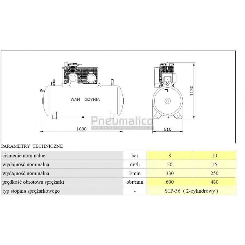 Bardzo dobry Kompresor - Sprężarka WAN-ES - Sklep pneumatyczny Pneumatico HZ81