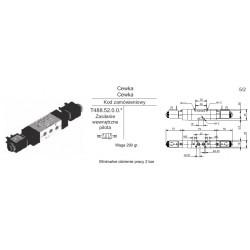Zawór elektropneumatyczny 5/2 BISTAB. Pneumax T488.52.0.0.M 1/8
