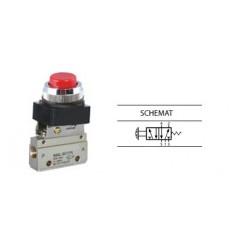 Zawór ręczny z przyciskiem G-522PPL 5/2
