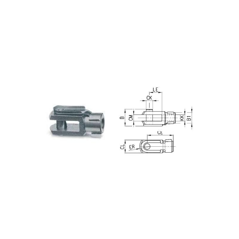 Końcówka widełkowa tłoczyska YC-8-10 TEKMA