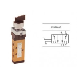 Zawór ręczny przełącznikiem dwupozycyjnym 5/2 PNEUMAX