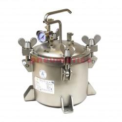 Zbiornik ciśnieniowy ze stali nierdzewnej do natrysku/malowania 10l bez mieszadła SN10