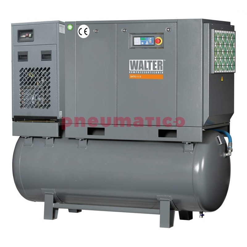 Kompresor śrubowy WALTER SKTG 11 [8/10/15 bar] COMBO