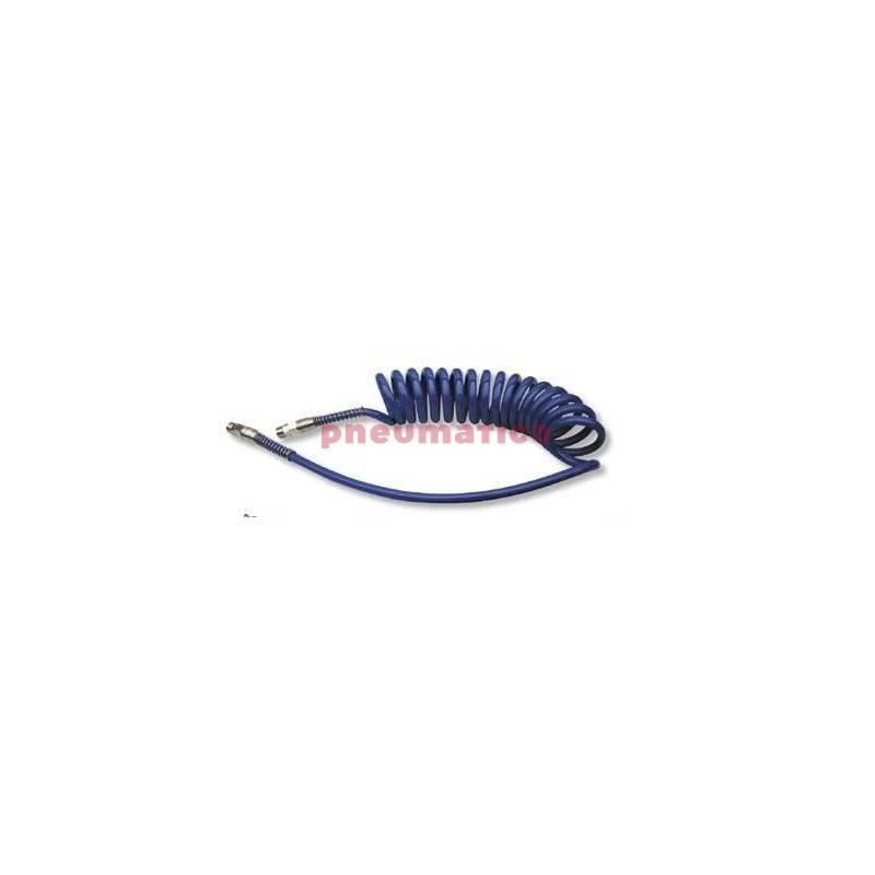 Wąż spiralny PU 9,5x12,5mm 4m z obrotową końcówką gw.zew. 3/8 UCS98A237506FDS-S