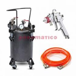 Zestaw - zbiornik ciśnieniowy do natrysku / malowania 10l ZB10-1 bez mieszadła węże pistolet NOWOŚĆ