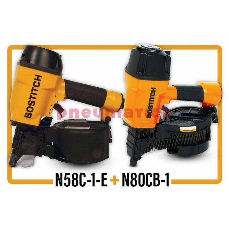 ZESTAW Gwoździarka pneumatyczna Stanley - Bostitch N58C-1-E + N80CB-1ML-E