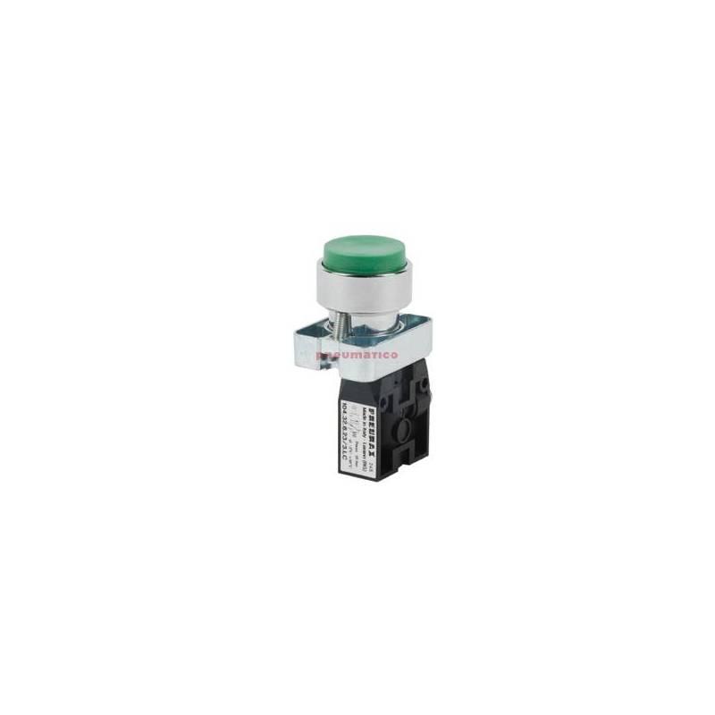 Zawór ręczny wystający przycisk - sprężyna 3/2 NC PNEUMAX