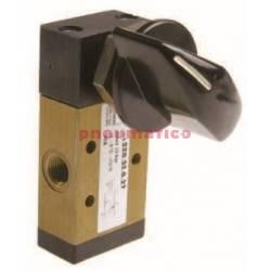 Zawór ręczny - przełącznik boczny dwupozycyjny 3/2 PNEUMAX