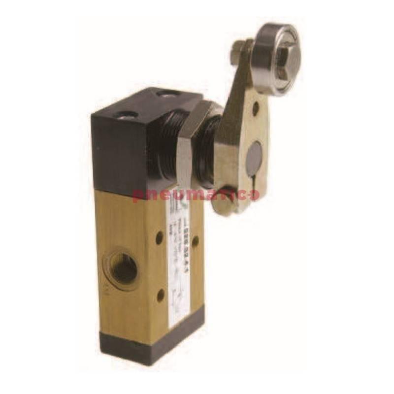Zawór ręczny - dźwignia z rolką boczną dwukier. - sprężyna  3/2 PNEUMAX