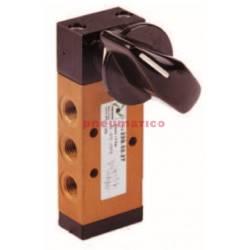 Zawór ręczny - przełącznik boczny dwupozycyjny 5/2 PNEUMAX