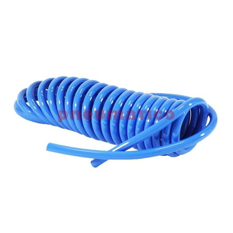 Wąż spiralny RQS PU 10x6,5mm 9m prosta końcówka SHTBC106509