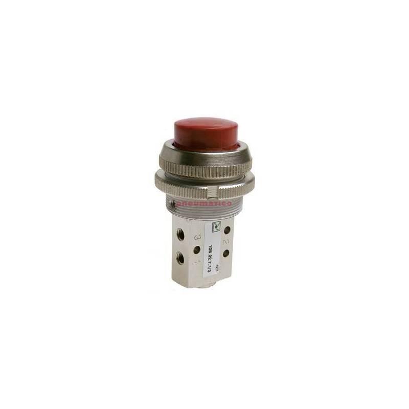 Zawór ręczny - przycisk sprężyna 3/2 PNEUMAX