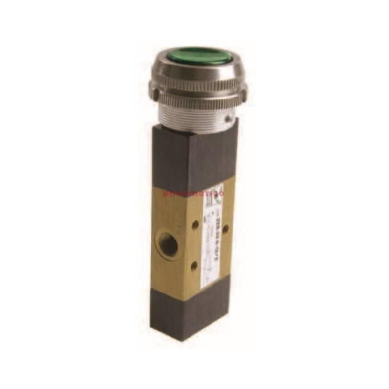 Zawór ręczny - przycisk czuły 30 sprężyna powietrzna 3/2 PNEUMAX