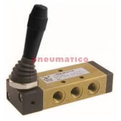 Zawór ręczny - dźwignia boczna - sprężyna 5/2 PNEUMAX