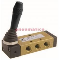Zawór ręczny - dźwignia boczna dwupozycyjna 5/2 PNEUMAX