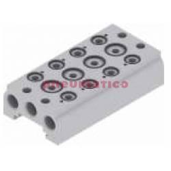 Baza aluminiowa dla zaworów 5/2 - 5/3 PNEUMAX