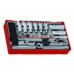 16-elementowy zestaw narzędzi do serwisu olejowego TTOS16 - Teng Tools