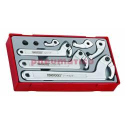 8-elementowy zestaw kluczy hakowych TTHP08 - Teng Tools