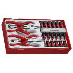 16-elementowy zestaw wkrętaków precyzyjnych i szczypiec TTMI16 - Teng Tools