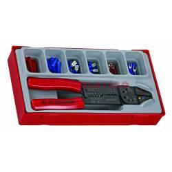 121-elementowy zestaw szczypiec z konektorami TTCP122 - Teng Tools