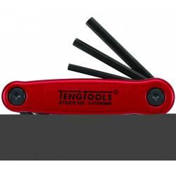 Klucze trzpieniowe sześciokątne w zestawie 1476NMM - Teng Tools