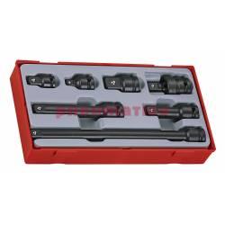 13-elementowy zestaw kluczy nasadowych maszynowych z chwytem kwadratowym 12 TT9207A - Teng Tools