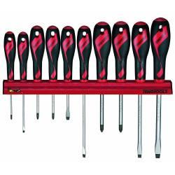 Zestaw wkrętaków na wieszaku ściennym WRMD10N - Teng Tools