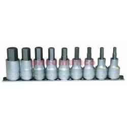 """Zestaw nasadek trzpieniowych sześciokątnych (imbusowych) z chwytem kwadratowym 1/2"""" M1212 - Teng Tools"""