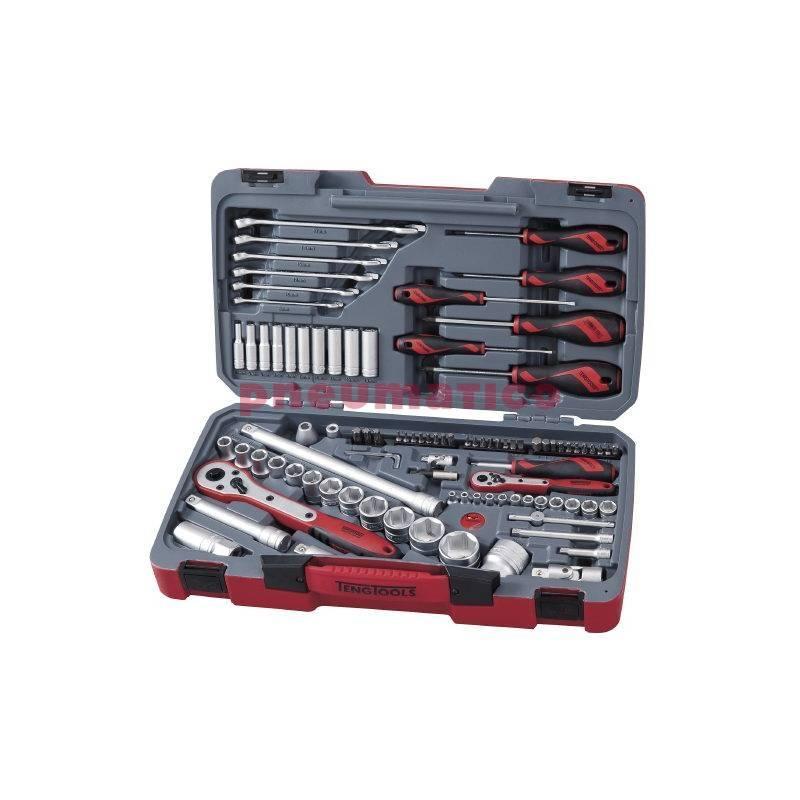 """Zestaw narzędziowy 1/4"""" i 1/2"""" - 95 elementów - Teng Tools"""