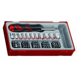 64-elementowy zestaw wkrętaka z grotami wymiennymi TTMDRT64 - Teng Tools