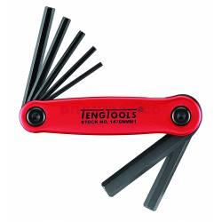 Klucze trzpieniowe sześciokątne (imbusowe) w zestawie Teng Tools 1476NMM1