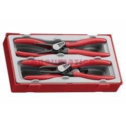 4-elementowy zestaw szczypiec do wewn. i zewn. pierścieni osadczych 19-60 mm Teng Tools TT474-7E - Teng Tools