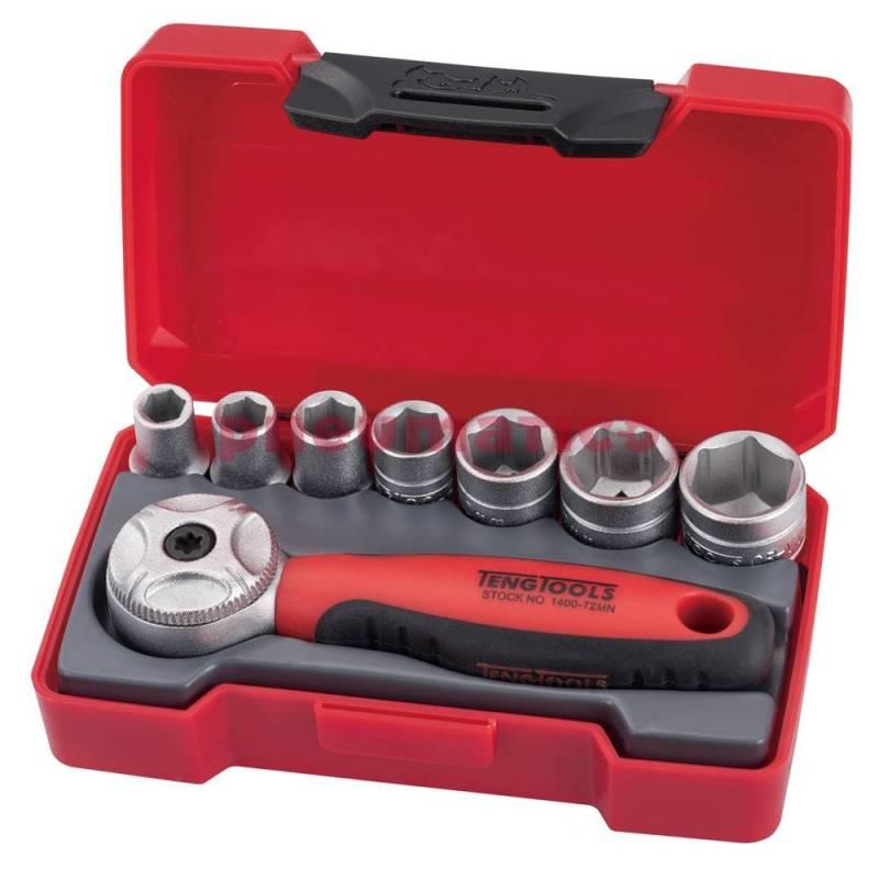 Zestaw narzędzi nasadowych z chwytem kwadratowym 14 Teng Tools T1408