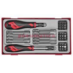 38-elementowy zestaw grotów i rękojeści wkrętakowych TTMDQ38 - Teng Tools