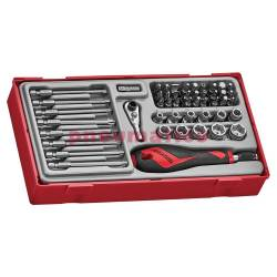 49-elementowy zestaw wkrętaka z grotami wymiennymi Teng Tools TTMDQ49