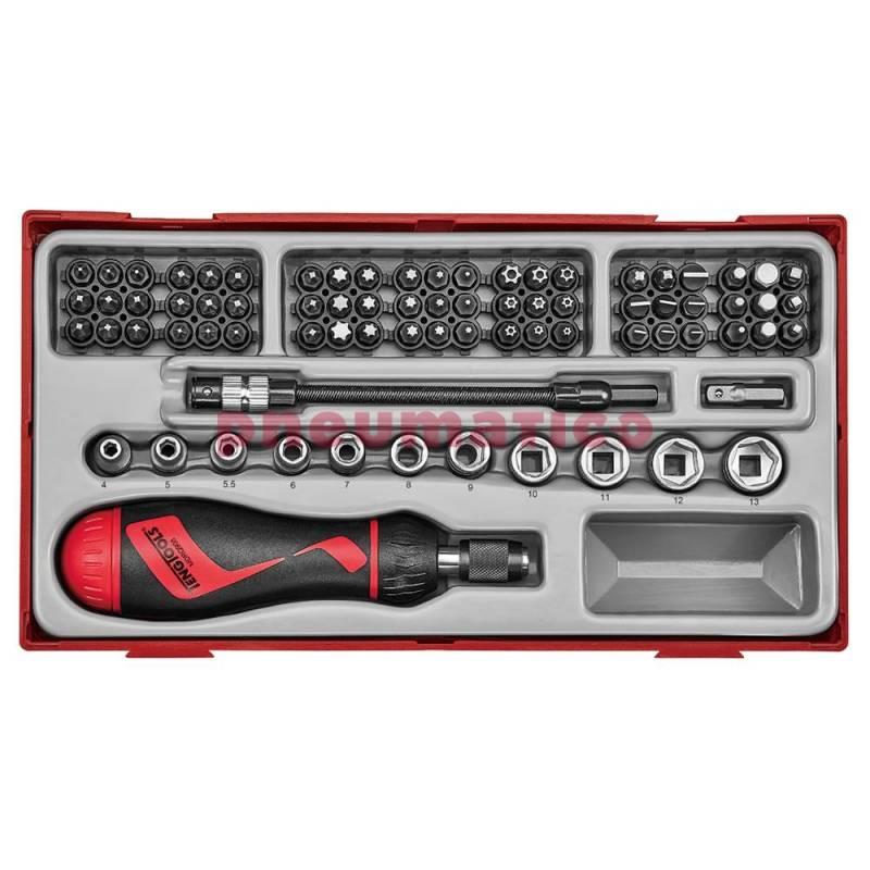 84-elementowy zestaw grotów i rękojeści wkrętakowej grzechotkowej - Teng Tools