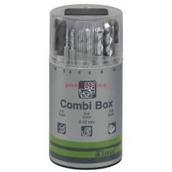 Zestaw wierteł 3-10mm COMBI-BOX (18 szt) - Luna