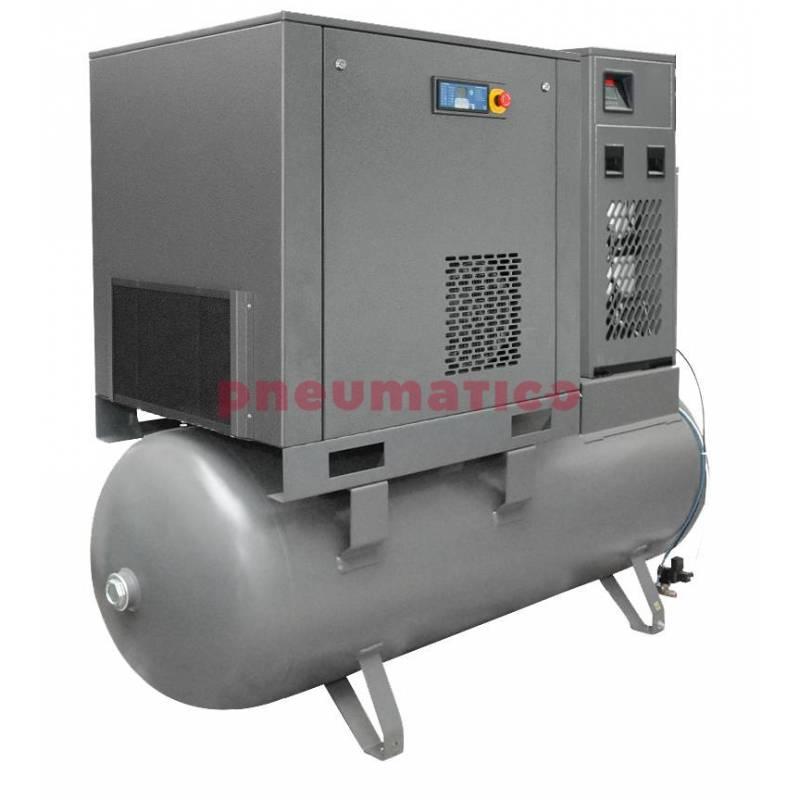 Kompresor śrubowy Walter na zbiorniku 500L z osuszaczem i dwoma filtrami (1 i 0,01 mikrona) 7,5/500 P COMBO