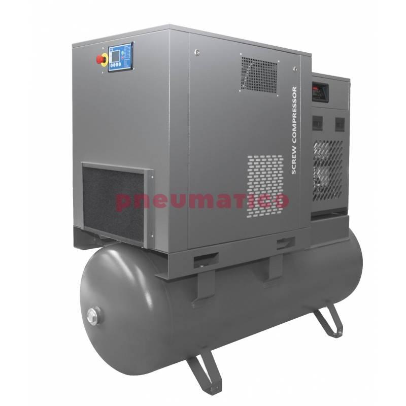 Kompresor śrubowy Walter na zbiorniku 500L z osuszaczem i dwoma filtrami (1 i 0,01 mikrona) 11/500 P COMBO