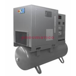 Kompresor śrubowy Walter na zbiorniku 500L z osuszaczem i dwoma filtrami (1 i 0,01 mikrona) 15/500 P COMBO