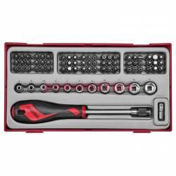76-elementowy zestaw grotów i rękojeści wketakowej TTMDQ76 - Teng Tools