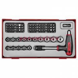 62-elementowy zestaw wkrętaka z grotami wymiennymi Teng Tools TTTHQ62