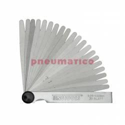 Szczelinomierze płytkowe Teng Tools 0.05-1.00 100 mm -